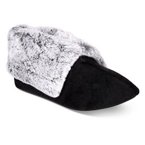 Charter Club faux fur booties